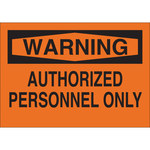 Brady B-120 Fiberglass Reinforced Polyester Rectangle Orange No Trespassing Sign - 14 in Width x 10 in Height - 69566