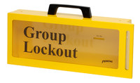 Brady Prinzing Black on Yellow Steel Group Lockout Box 46134 - 5.9 in Width - 2.9 in Height - 10 Padlock Capacity - 754476-46134