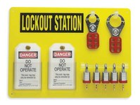 Brady Black/Yellow Acrylic Lockout Device Station - 15.5 in Width - 11.5 in Height - 754476-51186