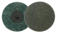 Weiler Non-Woven Aluminum Oxide Blue Quick Change Disc - Plastic Backing - Very Fine - 2 in Diameter - 51530