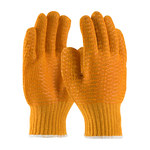 PIP 39-3013 Orange Large Polyester General Purpose Gloves - PVC Criss-Cross Pattern Both Sides Coating - 10.4 in Length - 39-3013/L