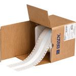 Brady Bradywrap RCM-637-1.5-WT White PVF Dot Matrix Printer Label - 1.5 in Width - 100 ft Height - B-637