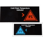Brady TIL-9-2C-8C Black/Blue/Red Polyester Temperature Indicator Label - 3.78 in Width - i.57 in Height - +2 C - B-7518
