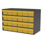 Akro-Mils Akrodrawers 120 lb Charcoal Gray Stackable Cabinet - 17 in Overall Length - 35 in Width - 22 in Height - 16 Drawer - Non-Lockable - AD3517C68 YELLOW