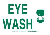 Brady B-555 Aluminum Rectangle White Eyewash Sign - 10 in Width x 7 in Height - 122427