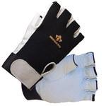 Impacto Air Glove BG401 Black/White Large Leather/Nylon/Spandex Work Gloves - BG40140