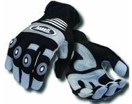 Ansell Projex 97-973 Black/Gray Large Mechanic's Gloves - 94-973 LG