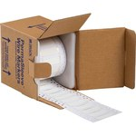 Brady PermaSleeve 3FR-250-2-WT-S-2 White Polyolefin Die-Cut Thermal Transfer Printer Sleeve - 1 in Width - 0.439 in Height - 0.083 in Min Wire Dia to 0.215 in Max Wire Dia - Double-Side Printable - B-