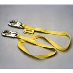 Miller 198RLS White Nylon Positioning & Restraint Lanyard - 50 ft Length - 612230-19052