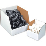 "Jumbo Open Top Bin Boxes, 8"" x 12"" x 8"" - 25 EACH PER BUNDLE"