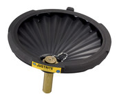Justrite Black Ecopolyblend Funnel - 21 in Width - 3.25 in Height - 697841-13457
