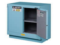 Justrite Chemcor 23 gal Blue Steel Hazardous Material Storage Cabinet - 36 in Width - 35 3/4 in Height - 697841-12079