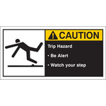 Brady 96162 White / Yellow on Black Polyester Equipment Safety Label - 5 in Width - 2 1/2 in Height - B-302