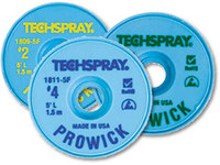 Techspray Pro Wick #2 Yellow Rosin Flux Core Desoldering Braid - 10 ft Length - 0.055 in Diameter - Rosin Flux Core - 1802-10F