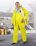 Dunlop Webtex 76050 Yellow Large Polyester/PVC Rain Overalls - 2 Pockets - 30 in Inseam - 791079-12402
