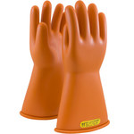 PIP Novax 147-2-14 Orange 9 Rubber Work Gloves - 14 in Length - Smooth Finish - 147-2-14/9