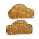 Chicago Protective Apparel Leather Hand Guard - Snap - SR-BHG-SNAP
