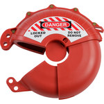 Brady Red ABS Plastic Valve Lockout Device 148648 - 3 to 7 in Compatible Diameter - 754473-58143