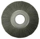 Weiler Ceramic Wheel Brush 0.043 in Bristle Diameter 120 Grit - Arbor Attachment - 8 in Outside Diameter - 2 in Center Hole Size - 86127