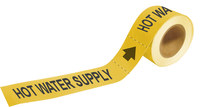Brady Pipe Markers-To-Go 20442 Yellow Plastic Water Self-Adhesive Pipe Marker - 1 in Height - 8 in Length - B-736