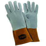 West Chester 6130 Off-White Large Deerskin Leather Welding Glove - Straight Thumb - 12.25 in Length - 6130/L