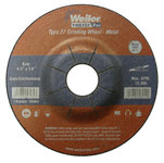 Weiler Silicon Carbide Surface Grinding Wheel - 24 Grit - Coarse Grade - 4 1/2 in Diameter - 7/8 in Center Hole - 1/4 in Thick - 56483