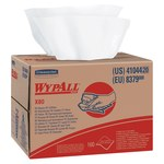 Kimberly-Clark Wypall X80 White Hydroknit Wiper - Box - 160 sheets per unit - 16.8 in Overall Length - 12.5 in Width - 41044
