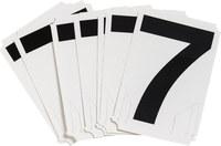 Brady Quik-Align 8220-7 Black Vinyl Number Label - Outdoor - 4 in Height - 4 in Character Height - B-933