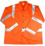 West Chester IRONCAT 7060 Hi-Vis Orange Large Cotton Flame Retardant Jacket - 8 Pockets - 662909-004192