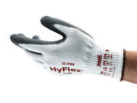 Ansell Hy-Flex Intercept 11-735 White/Black 9 Polyurethane Cut-Resistant Gloves - EN 388 5, ANSI 4 Cut Resistance - Polyurethane Palm & Fingers Coating