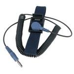 Desco Silveron Reusable Wrist Strap & Cord Set - 7 mm Snap, Alligator Clip - 63073