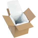 Shipping Supply White Insulated Box Liners - 6 in x 6 in x 6 in - SHP-13245