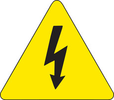 Brady 60191 High Voltage Warning Label 1 In X 1 In Vinyl