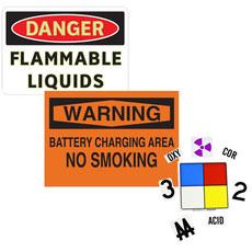 Hazardous Material, MSDS, SOP, RTK & Spill Response Signs