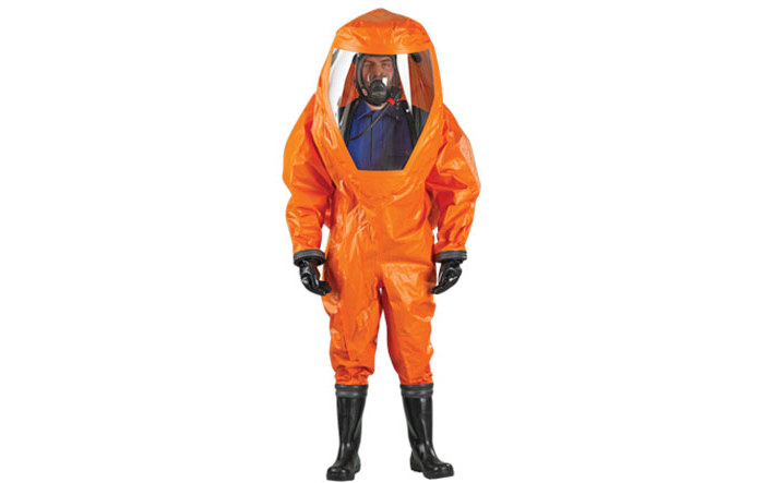 Picture of Ansell Microchem 6000 Orange Medium Reusable Chemical-Resistant Suit