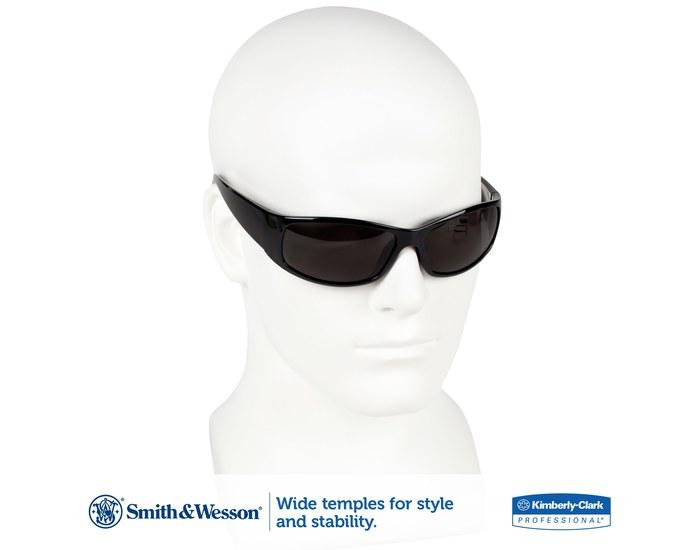 348bcdc3085 Smith   Wesson Elite Standard Safety Glasses Smoke Lens - Black Frame -  Wrap Around Frame - 079768-00866